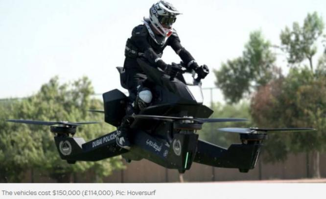 Police In Dubai Begun Training On Hoverbikes Planned To Be In Action By 2020